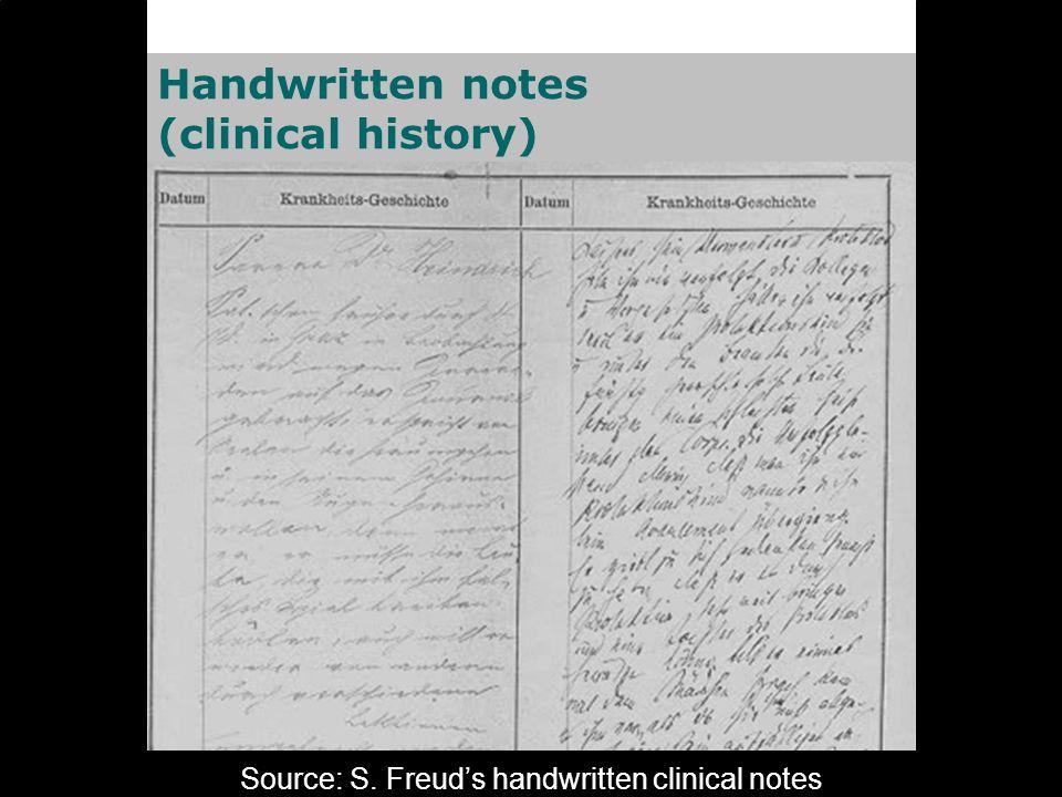 Source: Universitätsklinikum Freiburg, Germany Handwritten notes (nursing report)