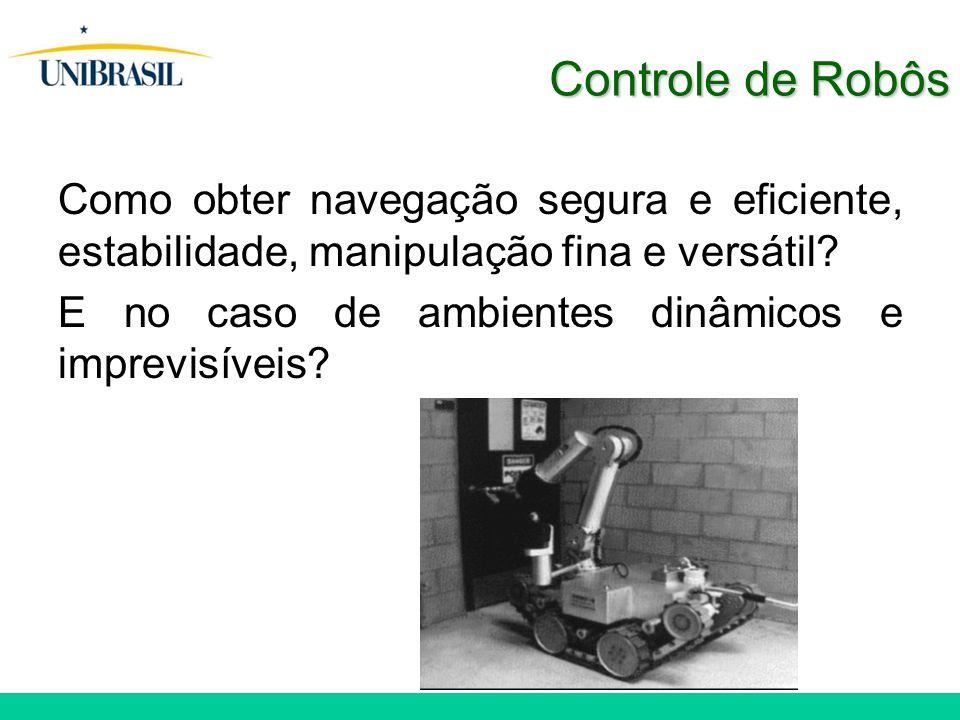 Controle de Robôs Como obter navegação segura e eficiente, estabilidade, manipulação fina e versátil.