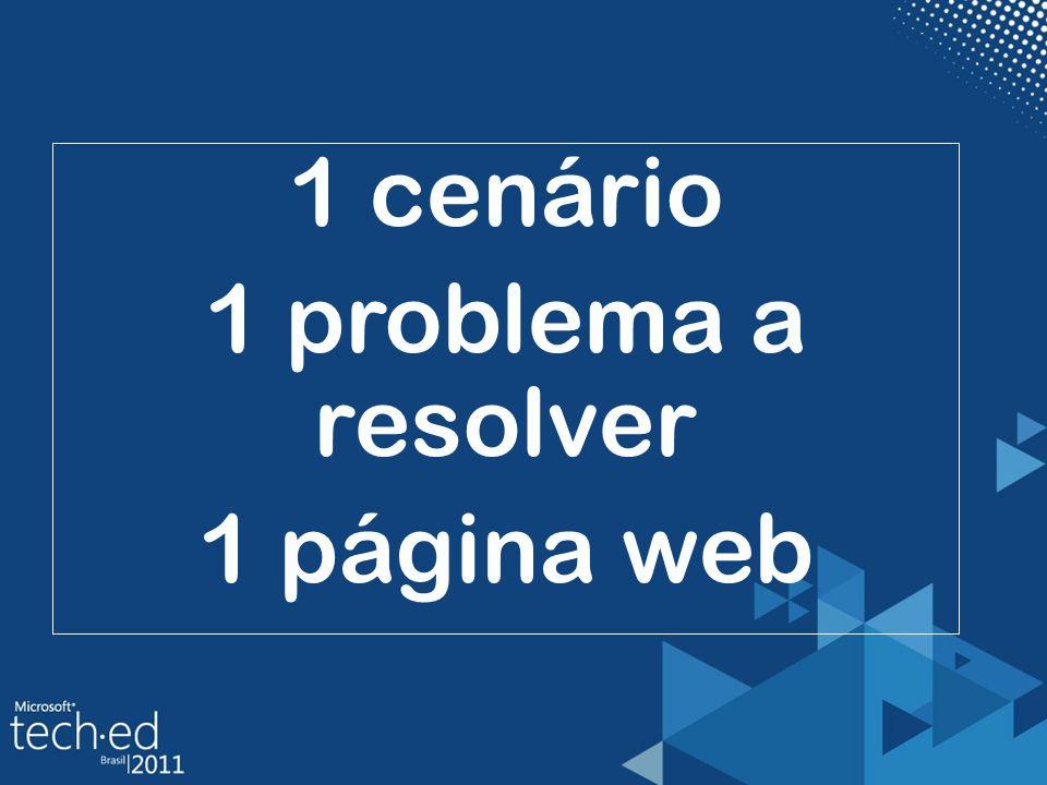 1 cenário 1 problema a resolver 1 página web