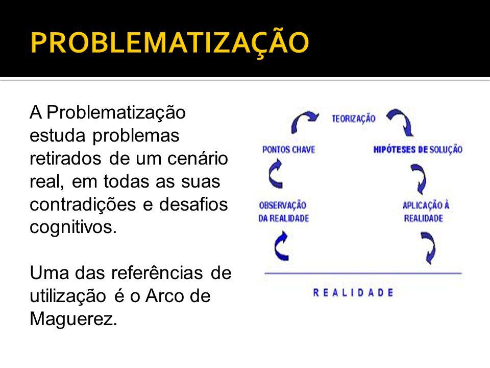 A Problematização estuda problemas retirados de um cenário real, em todas as suas contradições e desafios cognitivos. Uma das referências de utilizaçã