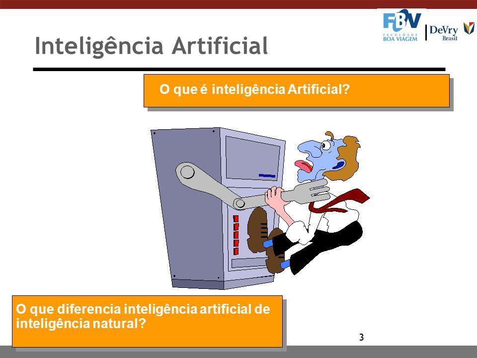 3 Inteligência Artificial O que é inteligência Artificial.
