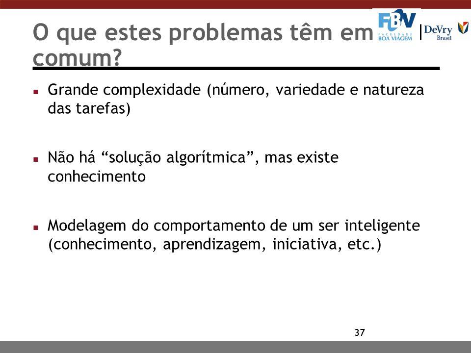 37 O que estes problemas têm em comum.