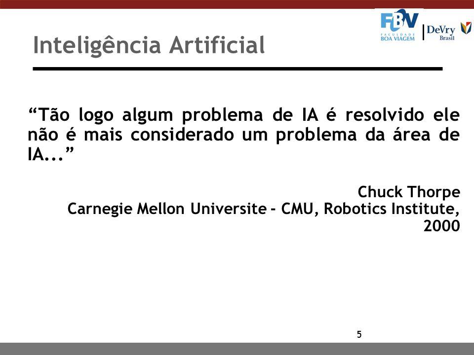 6 Definições Adicionais n Conjunto de técnicas para a construção de máquinas inteligentes , capazes de resolver problemas que requerem inteligência humana.