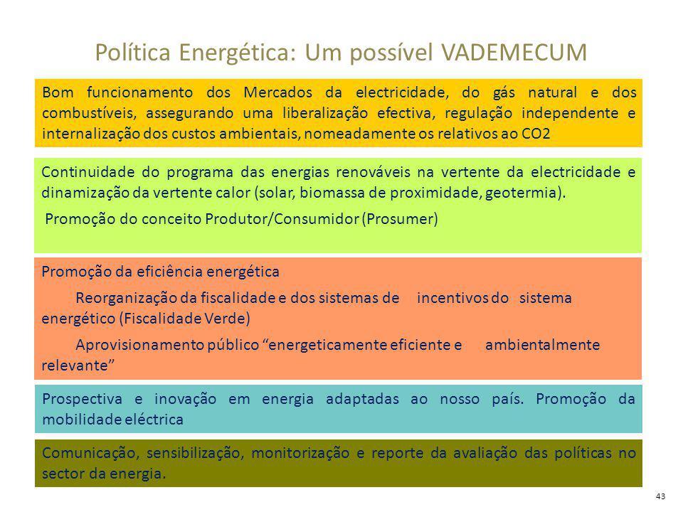 Política Energética: Um possível VADEMECUM Prospectiva e inovação em energia adaptadas ao nosso país.