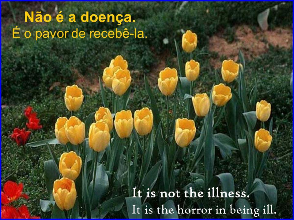 Não é a doença. É o pavor de recebê-la. It is not the illness. It is the horror in being ill.