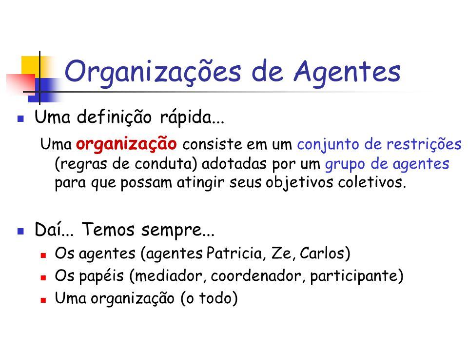 Organizações de Agentes Uma definição rápida...