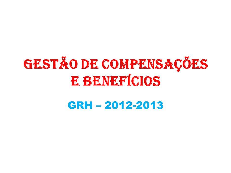 Gestão de Compensações e Benefícios GRH – 2012-2013