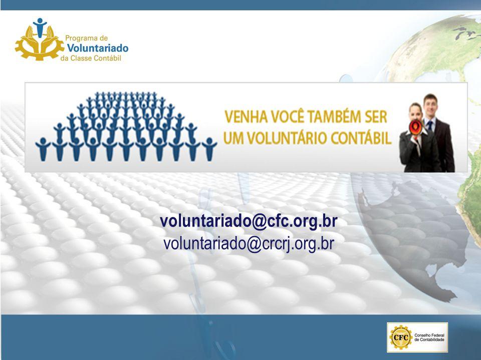 voluntariado@cfc.org.br voluntariado@crcrj.org.br