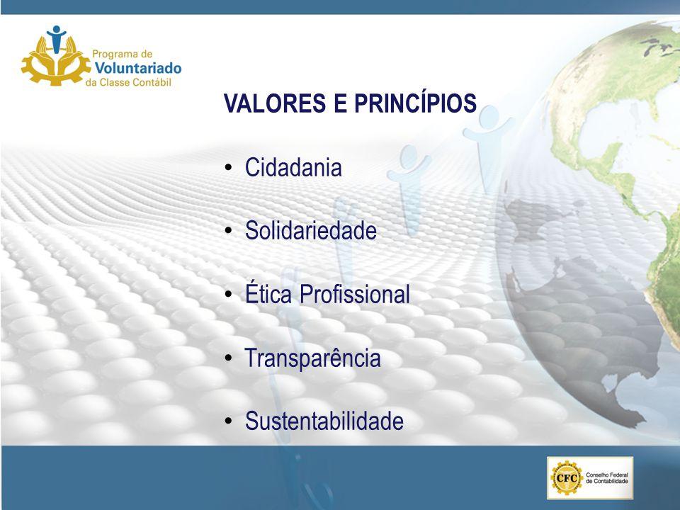 OBJETIVO GERAL Estimular a prática cidadã e o espírito de responsabilidade social entre os profissionais da contabilidade por meio da difusão do voluntariado organizado, incentivando-os a comprometerem-se com questões sociais relevantes para o País.