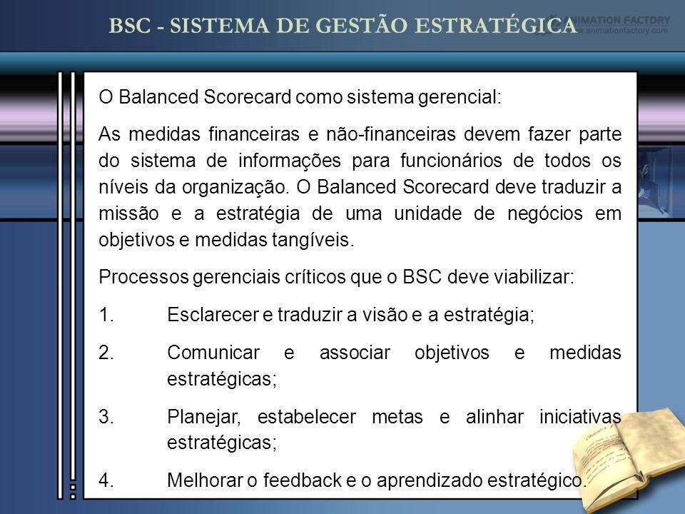 O Balanced Scorecard como sistema gerencial: As medidas financeiras e não-financeiras devem fazer parte do sistema de informações para funcionários de todos os níveis da organização.