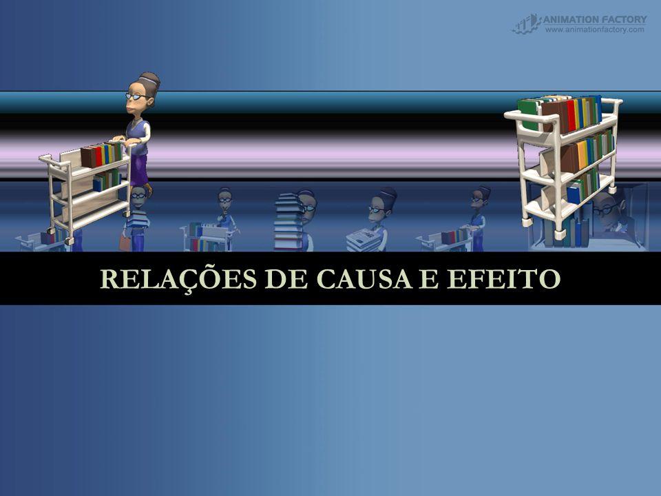 RELAÇÕES DE CAUSA E EFEITO