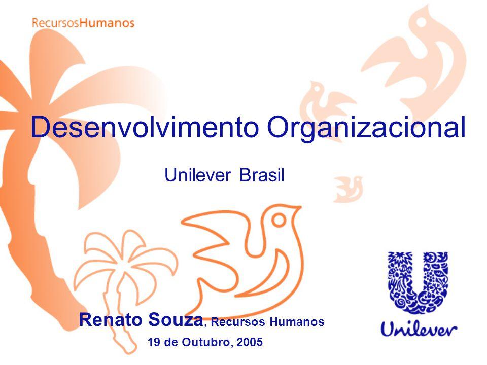 Desenvolvimento Organizacional Unilever Brasil Renato Souza, Recursos Humanos 19 de Outubro, 2005
