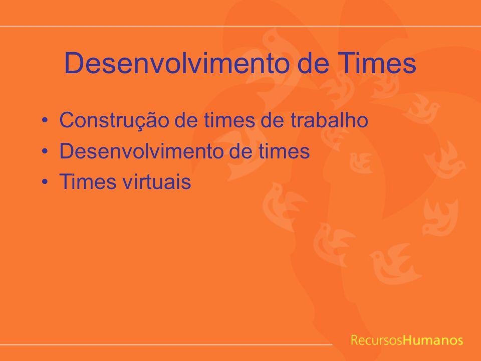 Desenvolvimento de Times Construção de times de trabalho Desenvolvimento de times Times virtuais