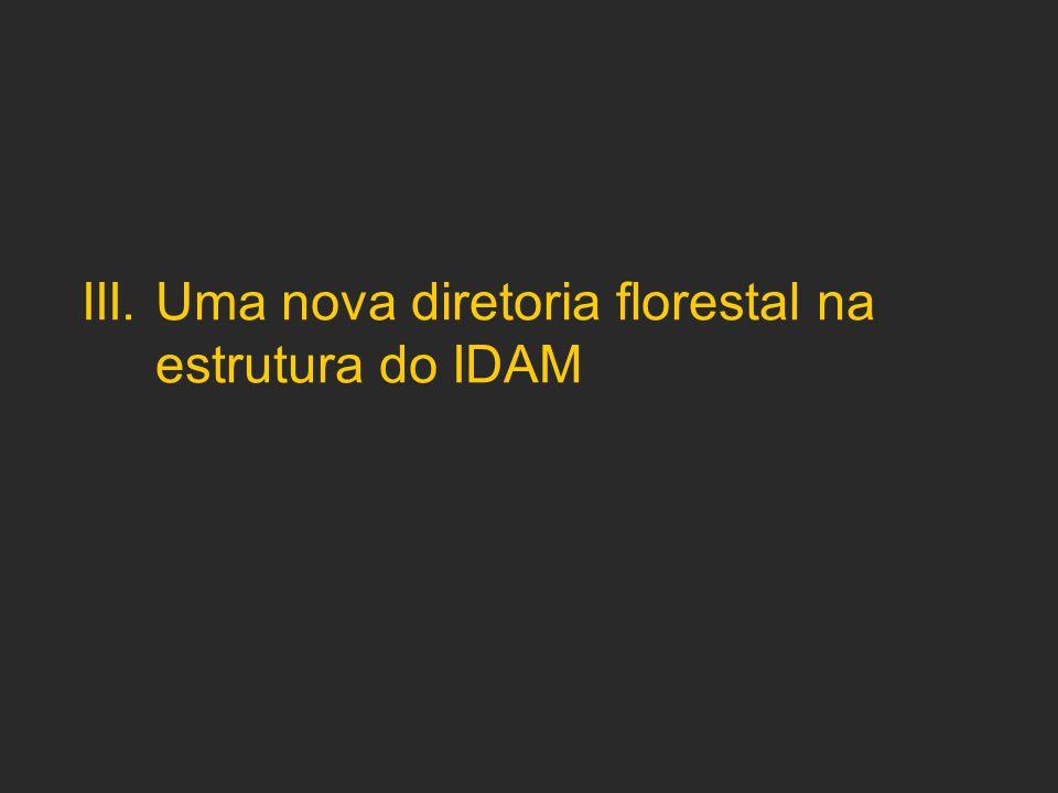 III. Uma nova diretoria florestal na estrutura do IDAM
