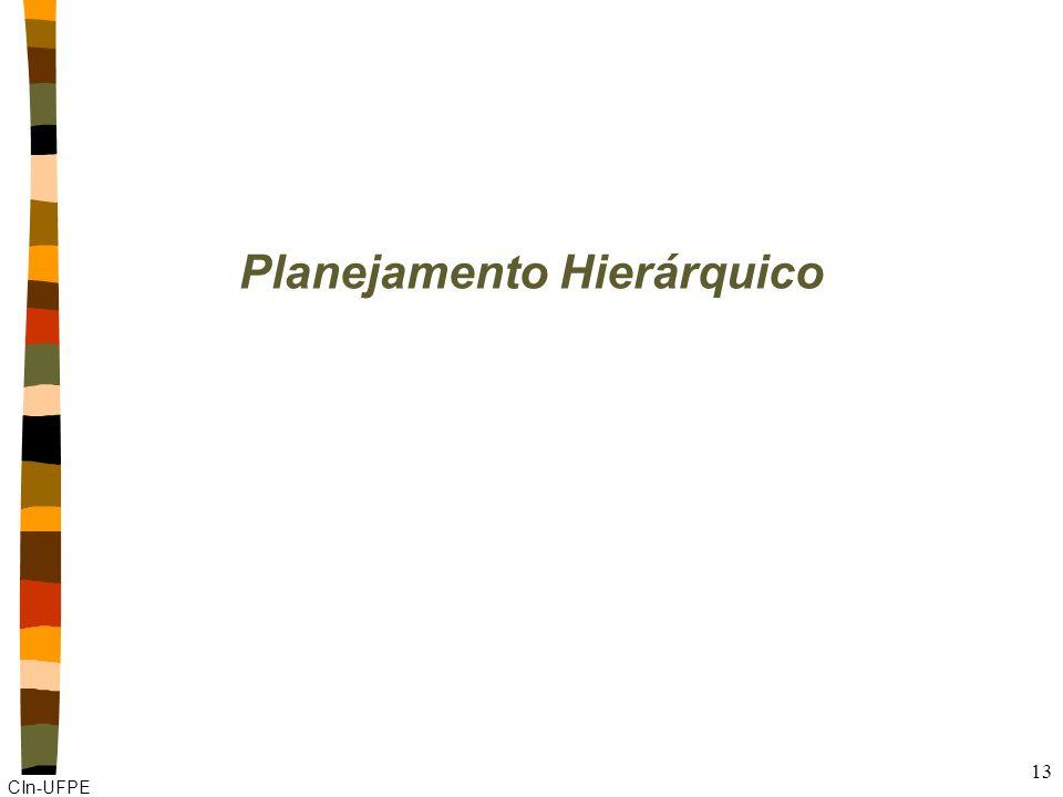 CIn-UFPE 13 Planejamento Hierárquico