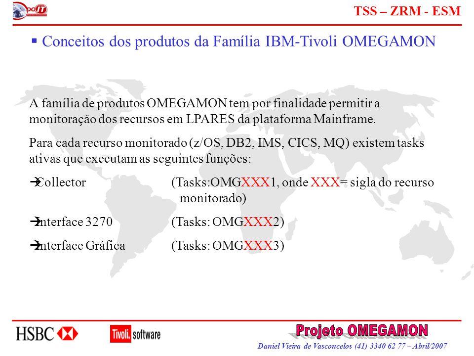 Daniel Vieira de Vasconcelos (41) 3340 62 77 – Abril/2007 TSS – ZRM - ESM  Conceitos dos produtos da Família IBM-Tivoli OMEGAMON A família de produto