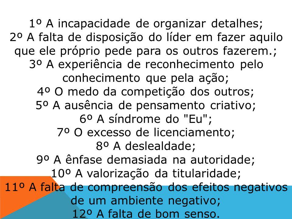 AS 12 CAUSAS DO FRACASSO NA LIDERANÇA Luiz Marins