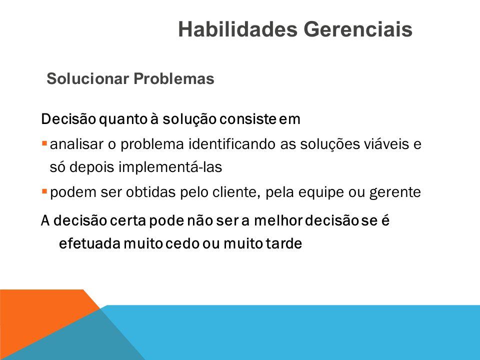 Definição (causas e sintomas) do problema e tomada de decisões Problemas podem ser:  internos (alocação de pessoas em outro projeto)  externos (pend