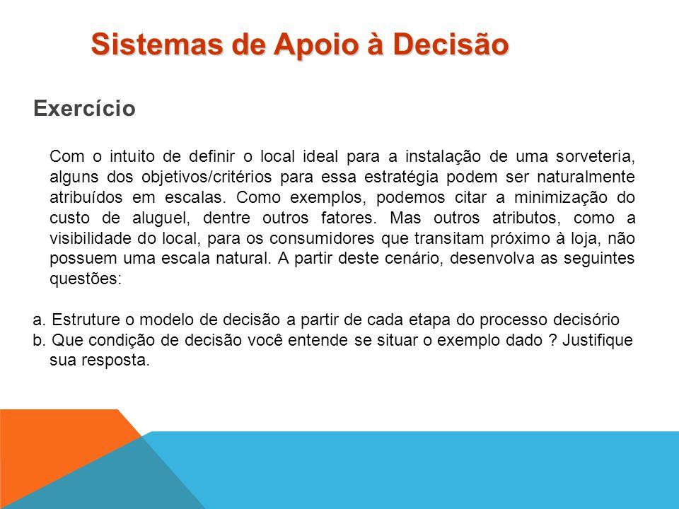Ferramentas de Apoio à Tomada de Decisão Apresentação do Expert Choice - AHP (Analytic Hierarchy Process) Sistemas de Apoio à Decisão