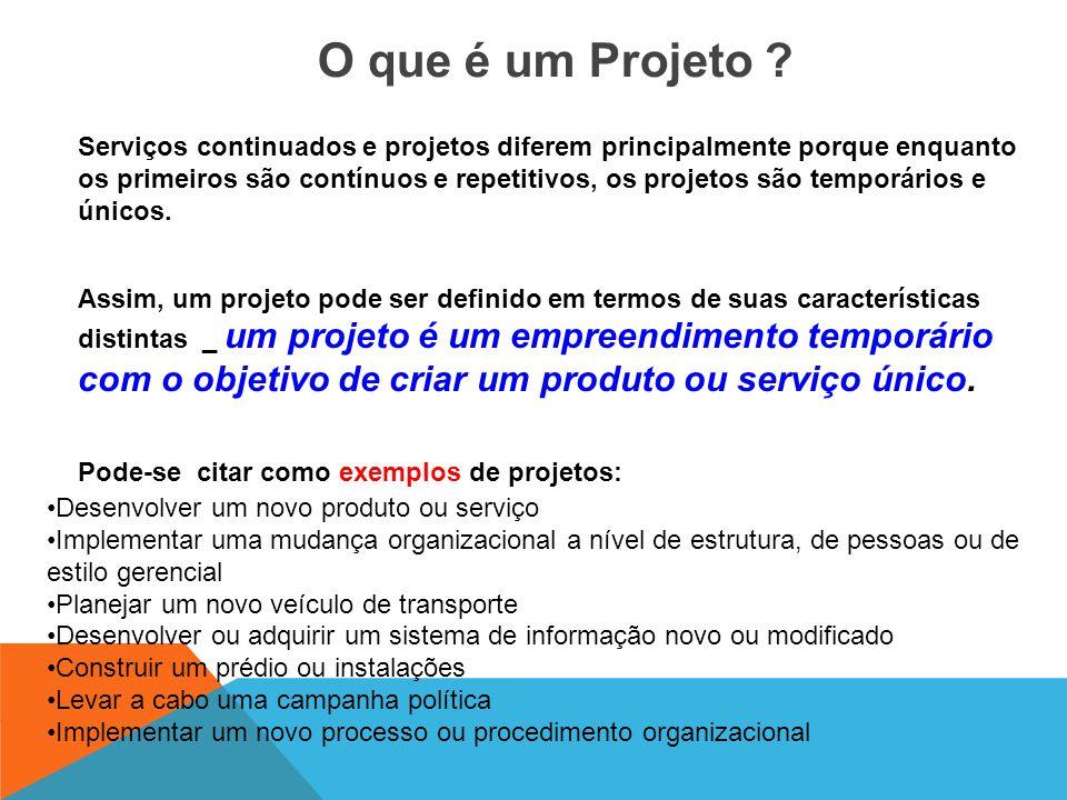 As organizações que desenvolvem projetos usualmente os dividem em fases visando o melhor controle gerencial. O conjunto de fases de um projeto é conhe