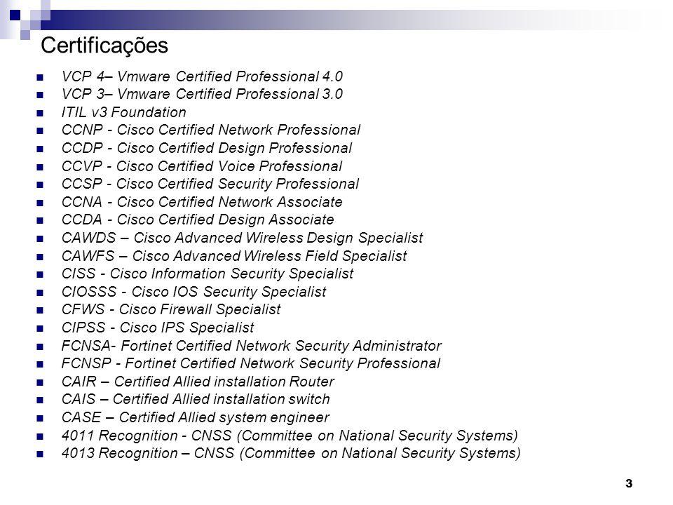 84 Power Over Ethernet Tipos  Cisco Inline power (CILP) proprietário Cisco  IEEE 802.3af - padrão
