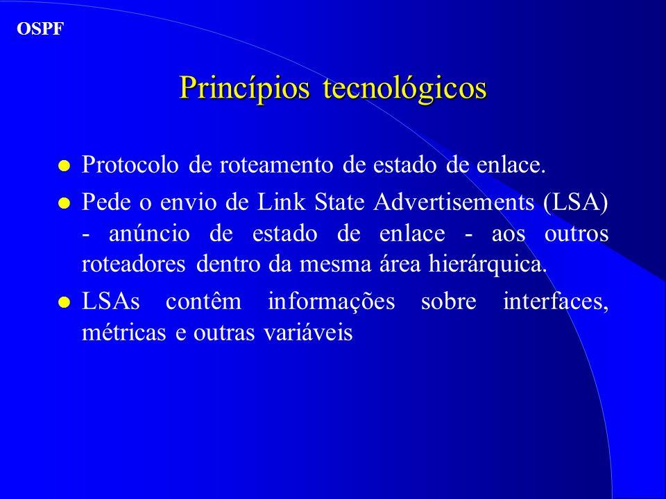 Princípios tecnológicos l Protocolo de roteamento de estado de enlace.