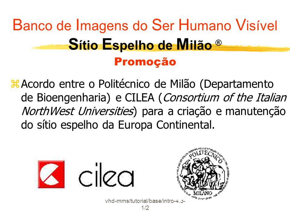 vhd-mms/tutorial/base/intro-4.3- 1/2 zAcordo entre o Politécnico de Milão (Departamento de Bioengenharia) e CILEA (Consortium of the Italian NorthWest