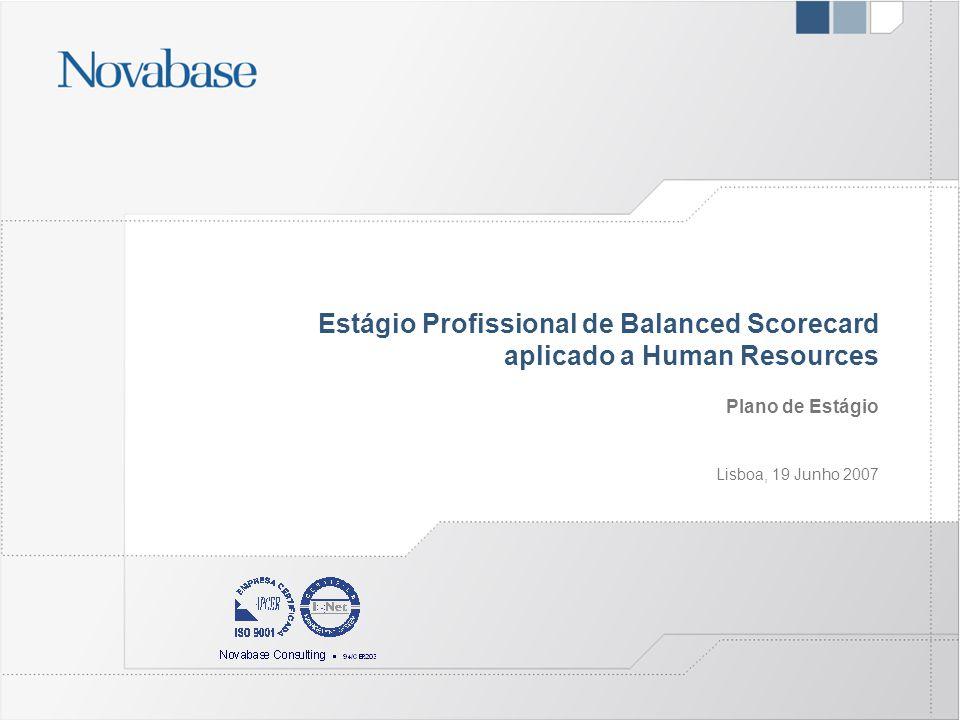 Estágio Profissional de Balanced Scorecard aplicado a Human Resources Plano de Estágio Lisboa, 19 Junho 2007
