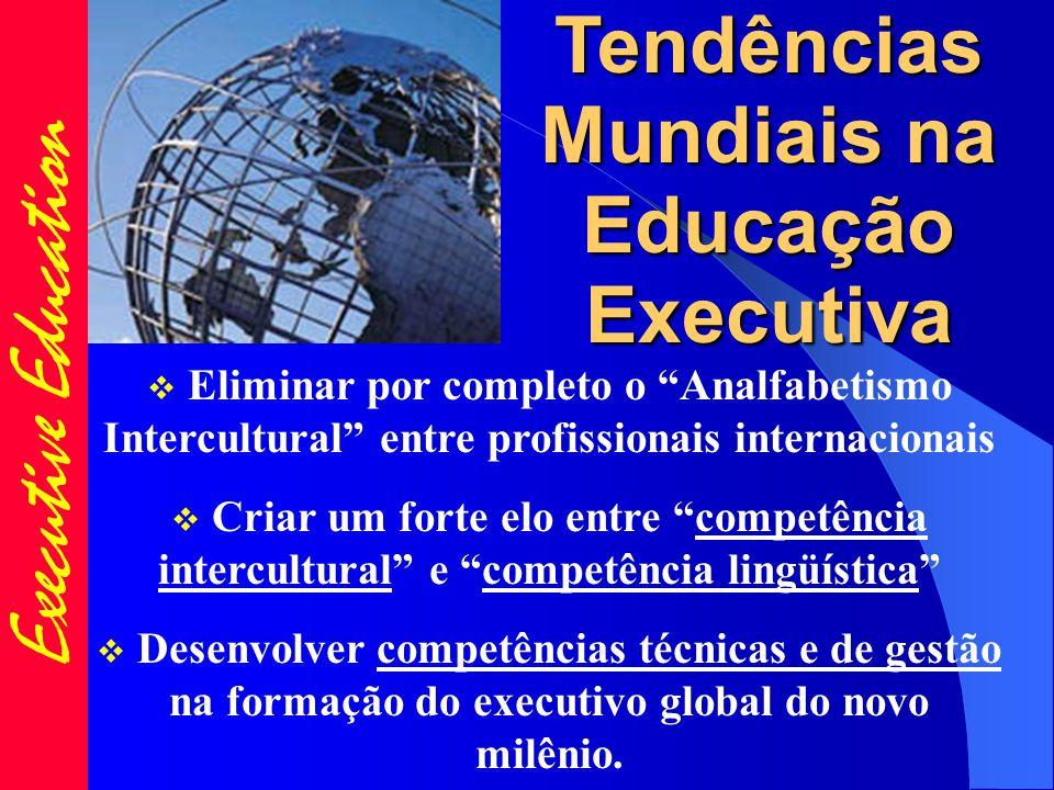 Executive Education  Eliminar por completo o Analfabetismo Intercultural entre profissionais internacionais  Criar um forte elo entre competência intercultural e competência lingüística  Desenvolver competências técnicas e de gestão na formação do executivo global do novo milênio.