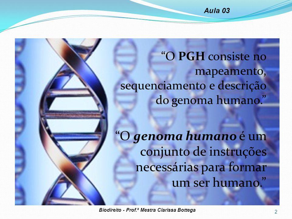 """""""O PGH consiste no mapeamento, sequenciamento e descrição do genoma humano."""" """"O genoma humano é um conjunto de instruções necessárias para formar um s"""