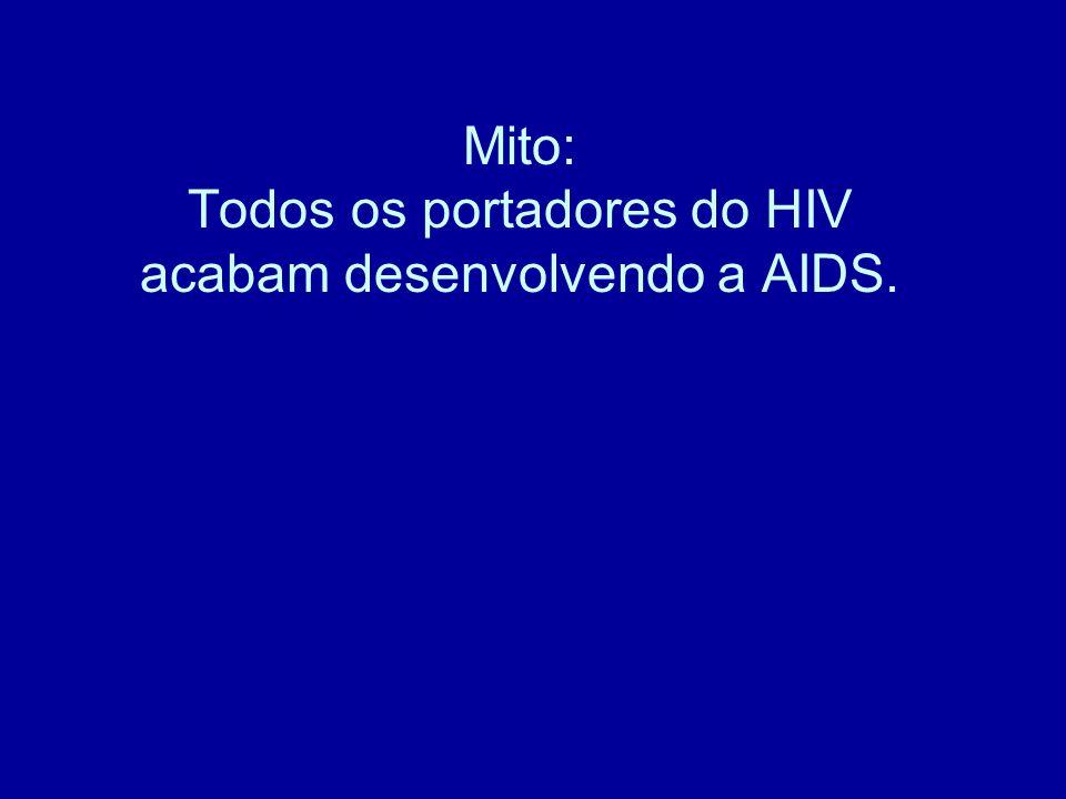 Mito: Todos os portadores do HIV acabam desenvolvendo a AIDS.