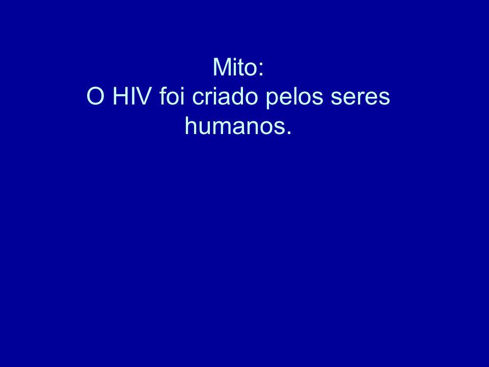 Mito: O HIV foi criado pelos seres humanos.