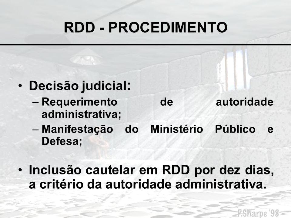 RDD – ARGUMENTOS FAVORÁVEIS Instrumento de individualização da pena, compatível com o inciso XLVI da CF.