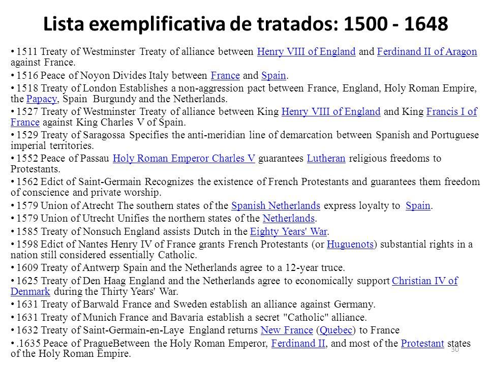30 1511 Treaty of Westminster Treaty of alliance between Henry VIII of England and Ferdinand II of Aragon against France.Henry VIII of EnglandFerdinan