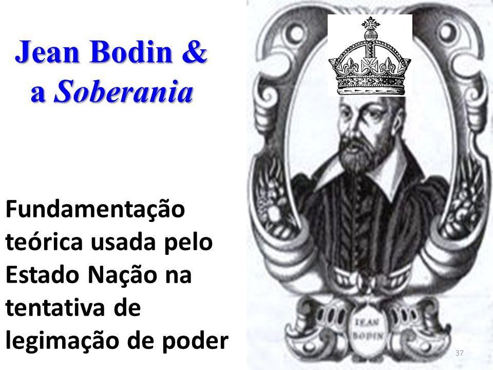 Jean Bodin & a Soberania 37 Fundamentação teórica usada pelo Estado Nação na tentativa de legimação de poder