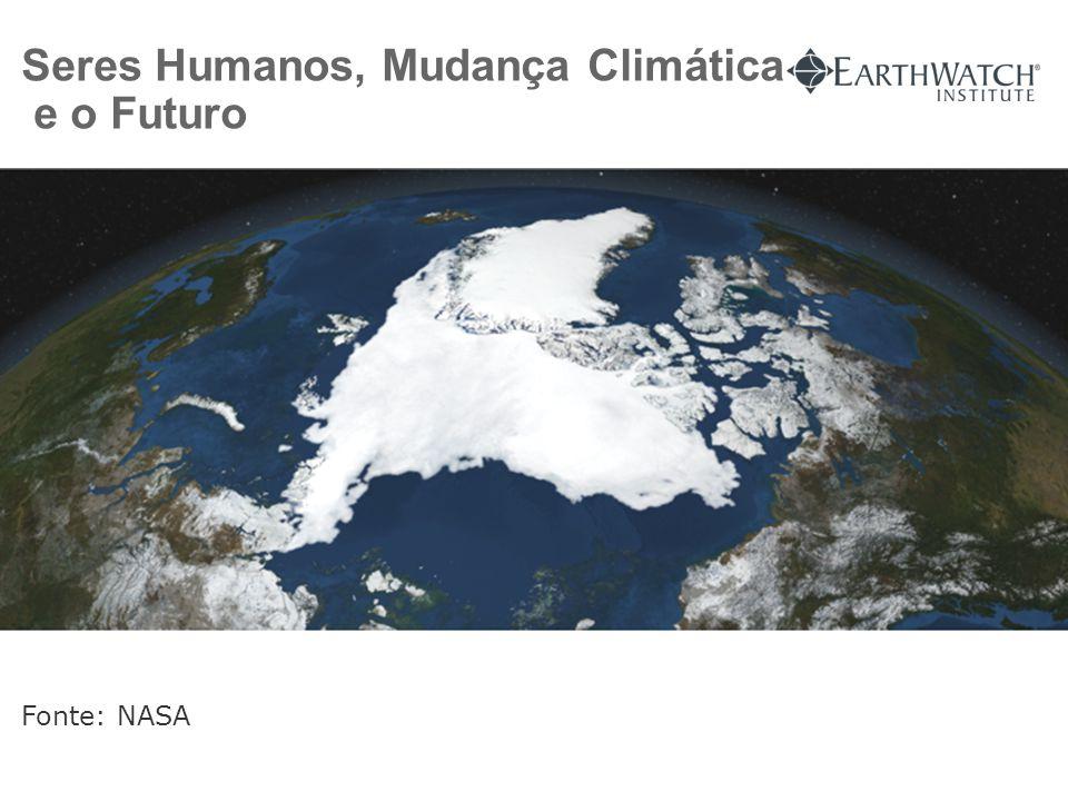 Seres Humanos, Mudança Climática e o Futuro Fonte: NASA