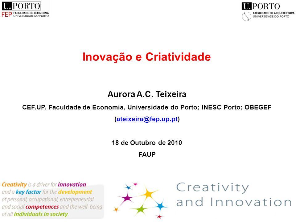 Inovação e Criatividade Aurora A.C. Teixeira CEF.UP.