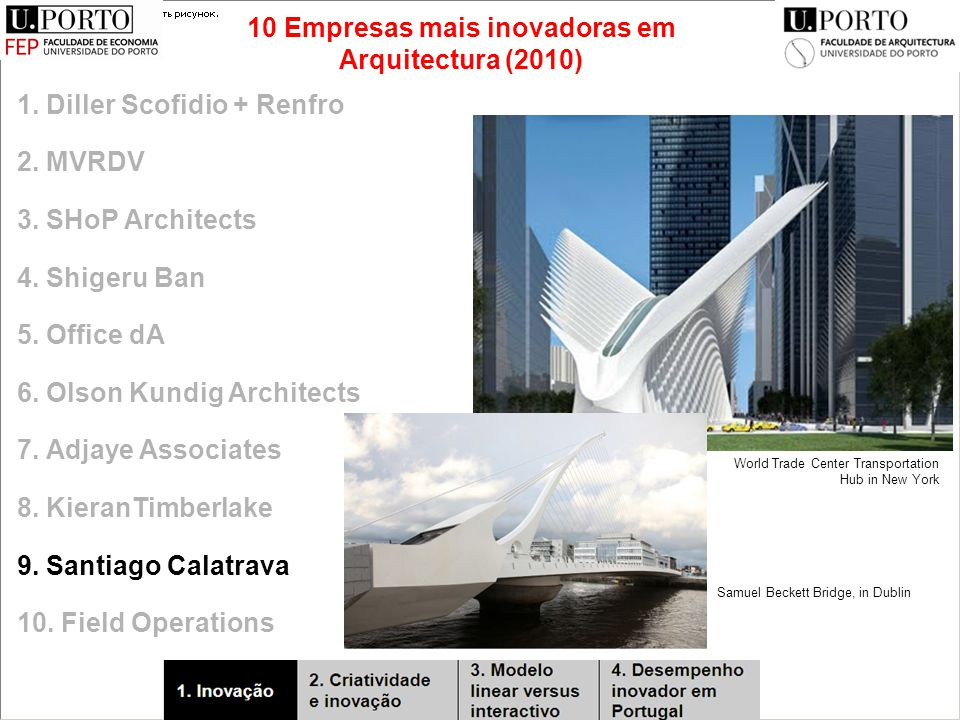 1. Diller Scofidio + Renfro 2. MVRDV 3. SHoP Architects 4.