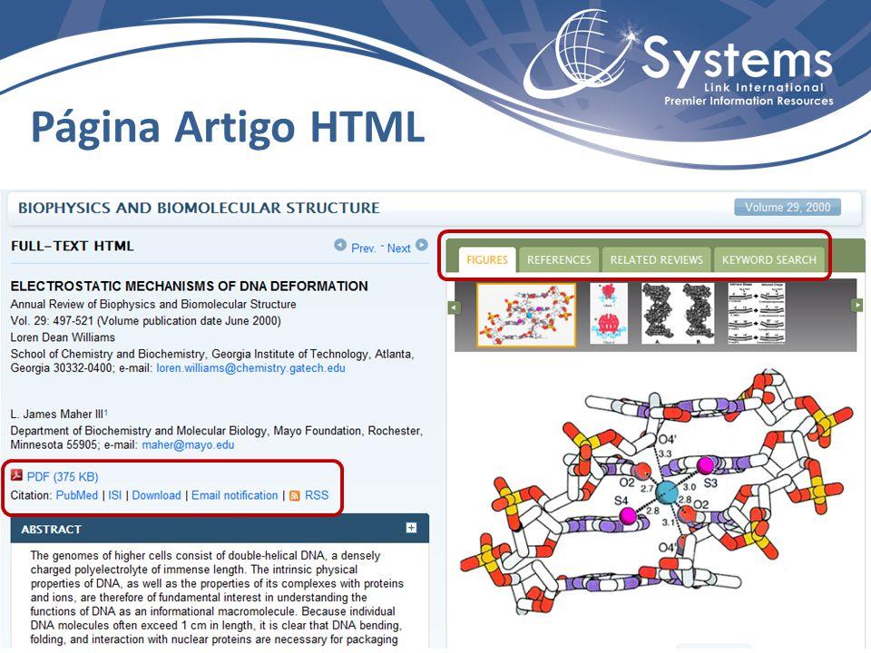 Página Artigo HTML