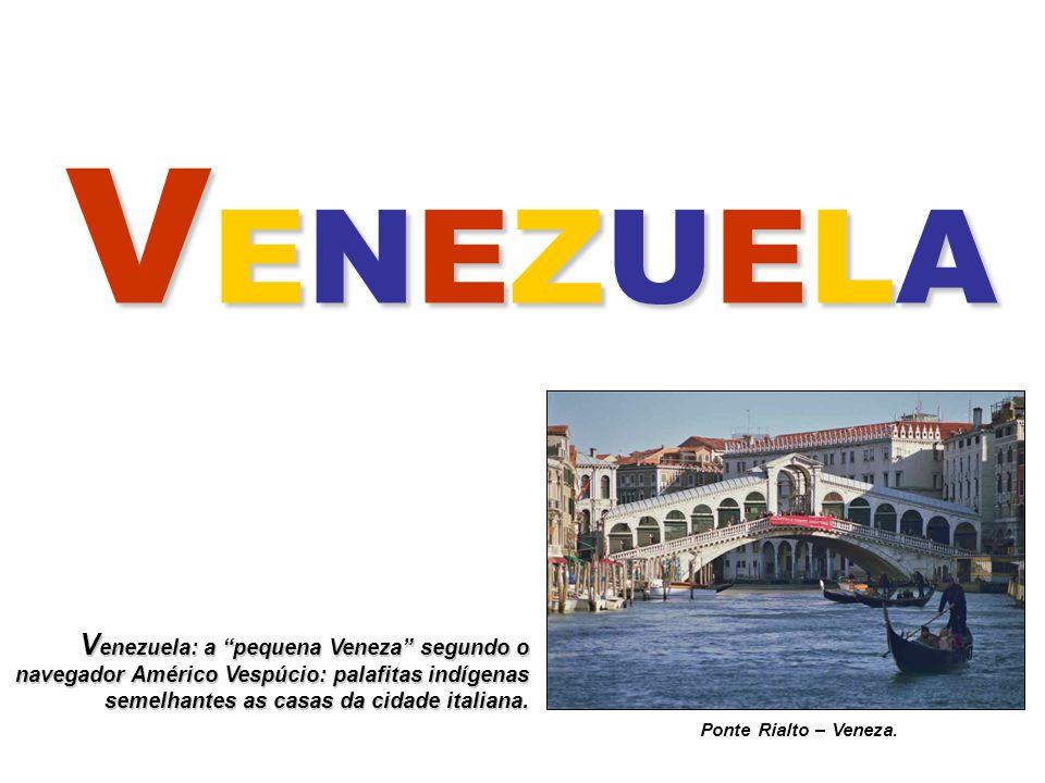 Países Sulamericanos, representados pelas respectivas bandeiras. Venezuela.