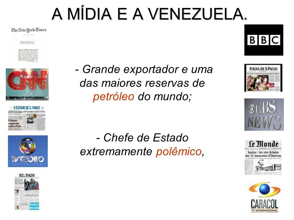 Expulsão do país do diretor para as Américas da Human Rights Watch (HRW), José Miguel Vivanco, horas depois da apresentação, em Caracas, de um relatório do grupo de defesa dos direitos humanos HRW com críticas ao governo Chávez (2008).