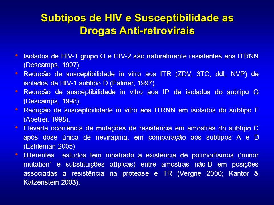 DETECÇÃO E QUANTIFICAÇÃO VIRAL DETECÇÃO E QUANTIFICAÇÃO VIRAL VACINAS VACINAS SOROLOGIA RESISTÊNCIA aos ANTI-RETROVIRAIS PATOGENICIDADE IMPLICAÇÕES DA DIVERSIDADE DO HIV-1