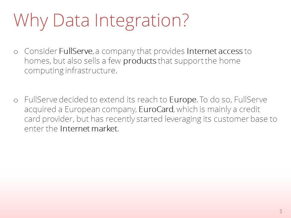 Why Data Integration.