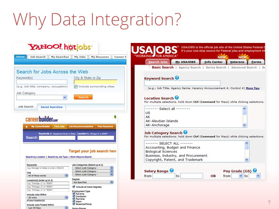 The Future of Data Integration o Visualizing Integrated Data Users do not want to view rows of data but rather visualizations that highlight the important patterns in the data and offer flexible exploration.