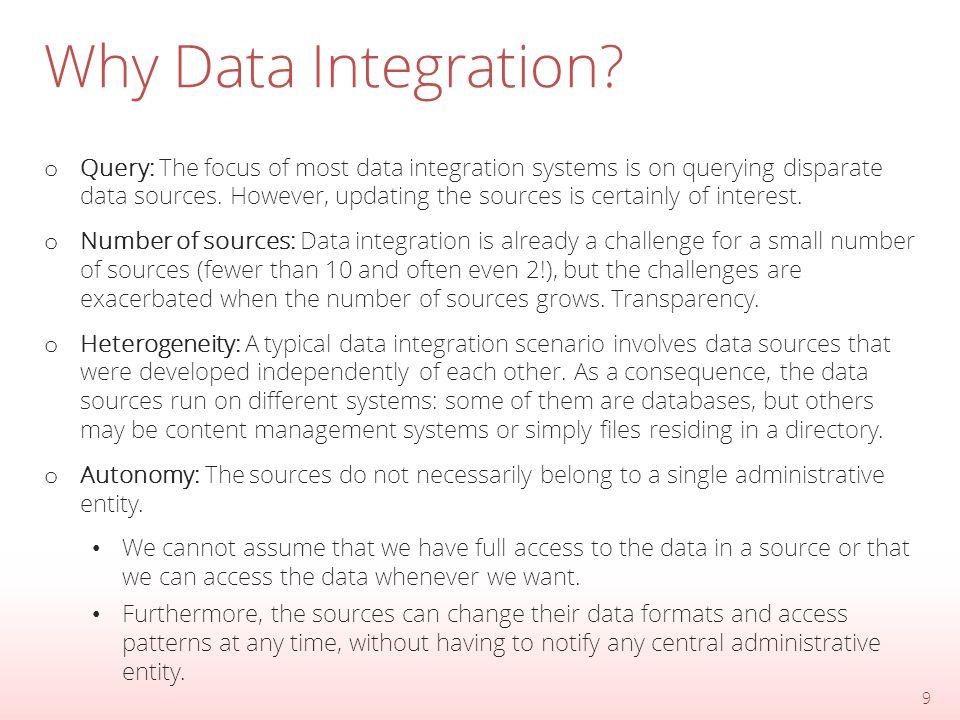 Data Integration Architectures 10 Warehouse Virtual Integration