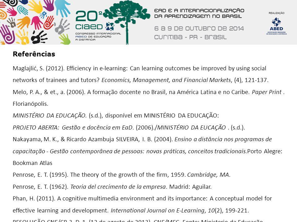 Referências Rocha, C.A. (2009). Mediações tecnológicas na educação superior.Curitiba: Ibpex.