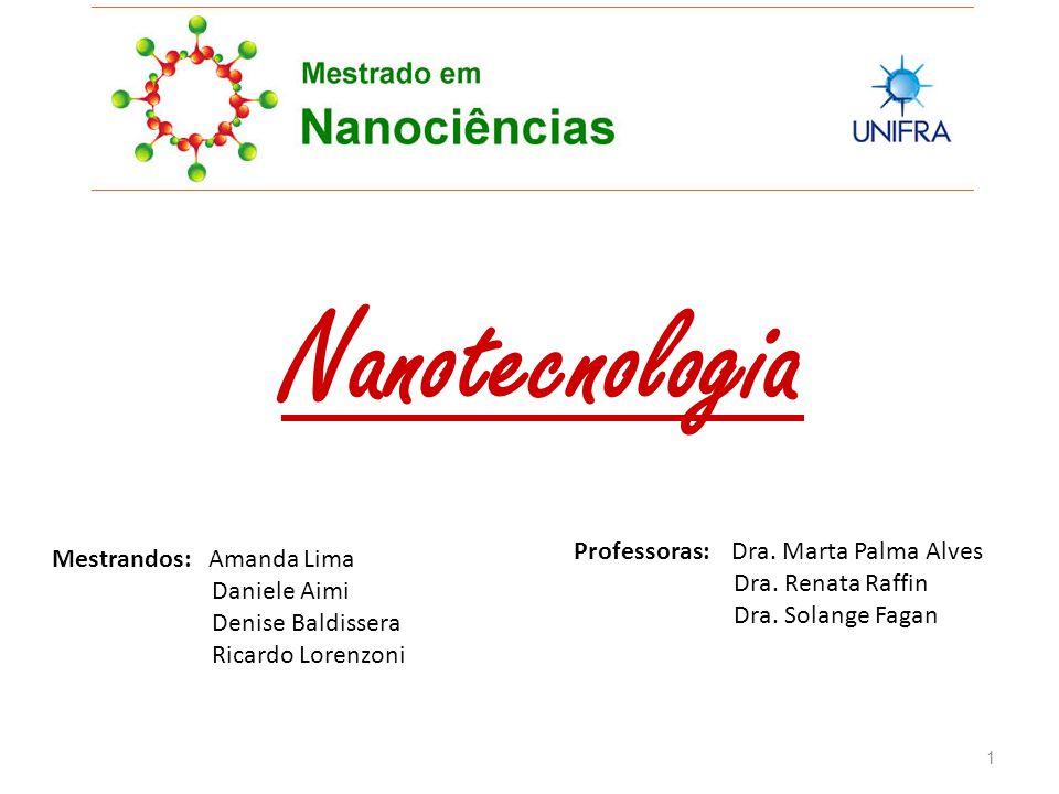 Nanotecnologia Mestrandos: Amanda Lima Daniele Aimi Denise Baldissera Ricardo Lorenzoni Professoras: Dra.