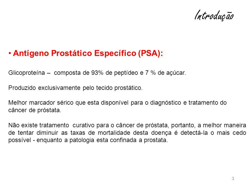 3 3 Antígeno Prostático Específico (PSA): Glicoproteína – composta de 93% de peptídeo e 7 % de açúcar.