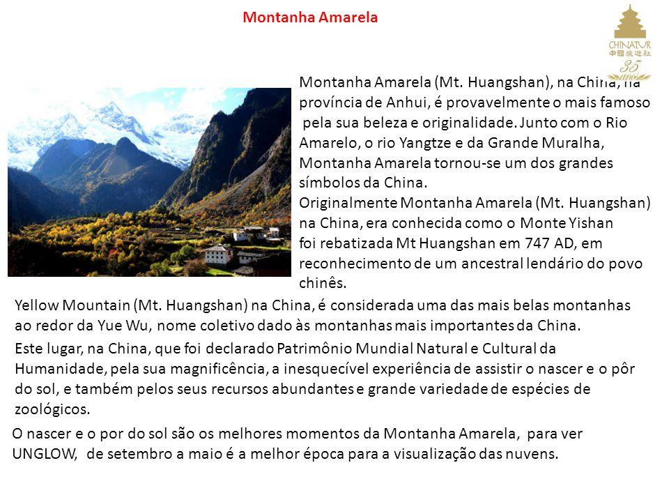 Montanha Amarela (Mt. Huangshan), na China, na província de Anhui, é provavelmente o mais famoso pela sua beleza e originalidade. Junto com o Rio Amar