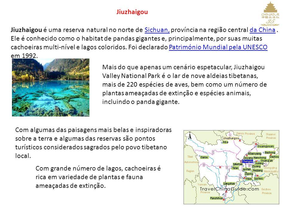 Jiuzhaigou Jiuzhaigou é uma reserva natural no norte de Sichuan, província na região central da China.Sichuan,da China Ele é conhecido como o habitat